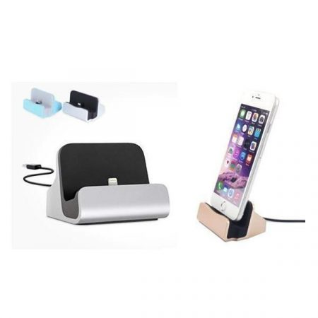 iPhone/Android aluminiums dock/lader